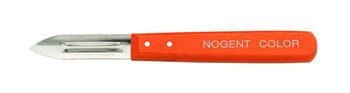 Éplucheur Nogent à double tranchant en bois orange pour éplucher les fruits et légumes