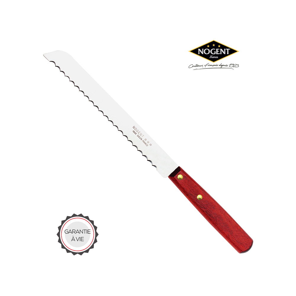 Grand couteau pain avec manche en bois