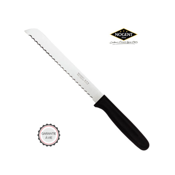 Grand couteau à pain avec son manche en plastique Nogent ***