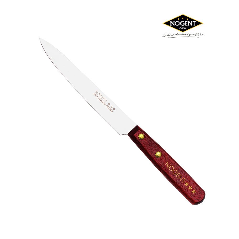 Couteau éminceur en bois avec une lame lisse de 14 cm Nogent***