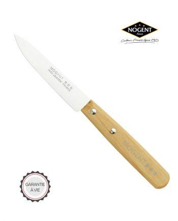 Couteau d'office en bois avec lame lisse de 9 cm Nogent***