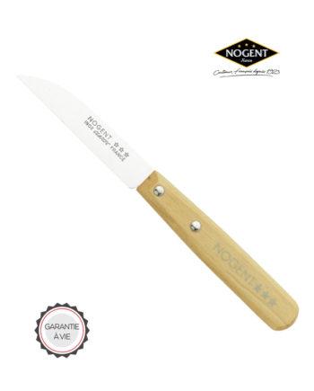 Couteau d'office en bois avec une lame lisse de 8 cm Nogent***