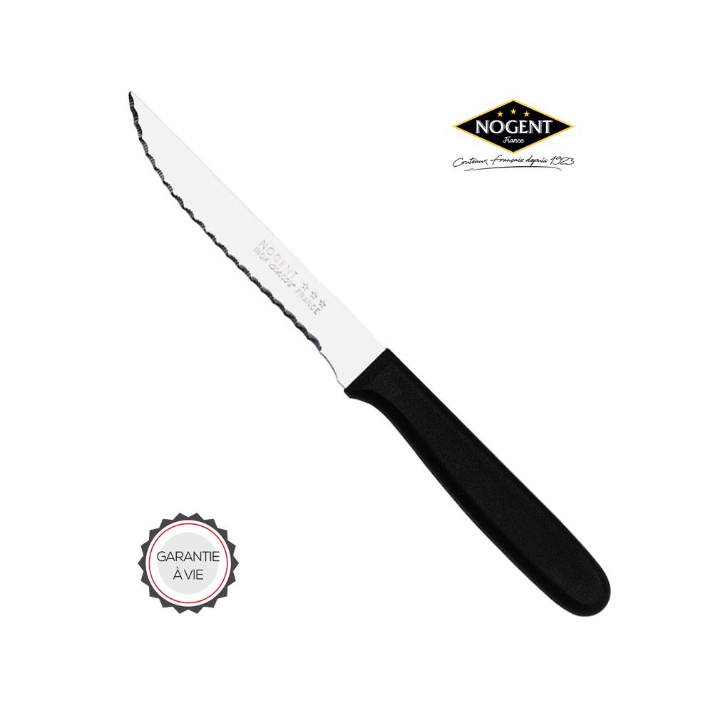 Couteau à steak inox en plastique polypropylène de couleur noir Nogent***