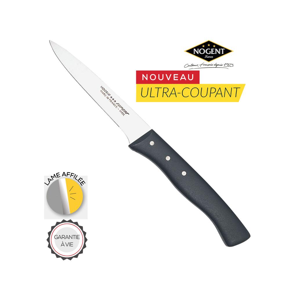 Couteau affilé Nogent gris
