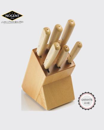 Couteaux avec rangement en bois Nogent***