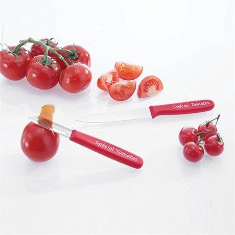 Le couteau à tomate et l'éplucheur spécial tomate