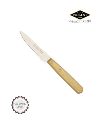 Couteau d'office en bois avec une lame lisse de 9 cm Nogent***