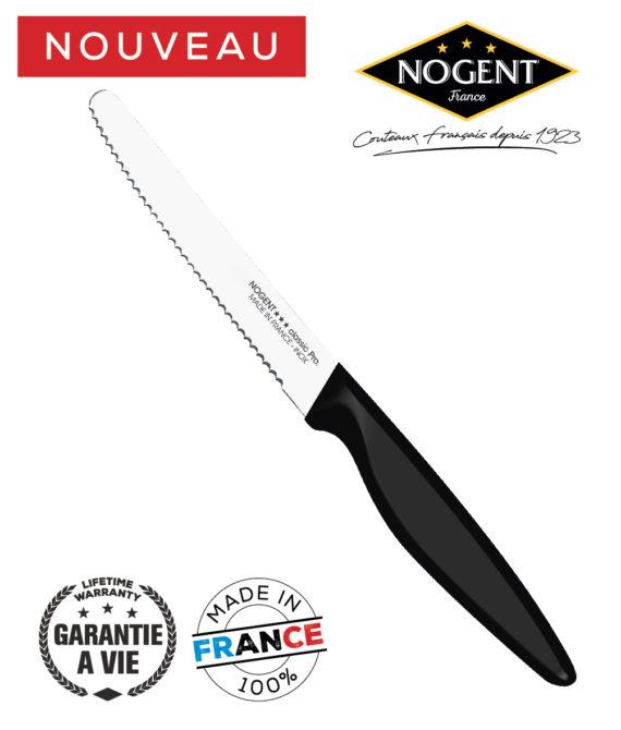 Couteau table cranté 11cm Nogent classic pro