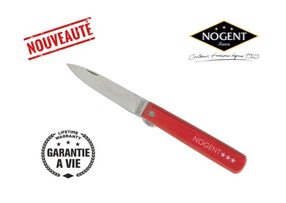 couteau pliant avec blocage rouge